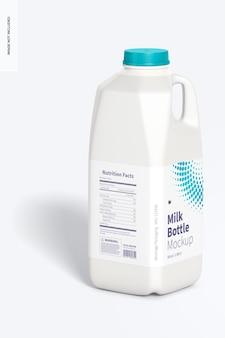 Maquette de bouteille de lait de 64 oz