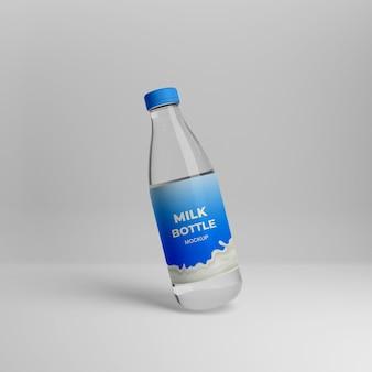 Maquette de bouteille de lait réaliste 3d