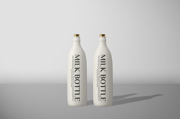 Maquette de bouteille de lait vue de face