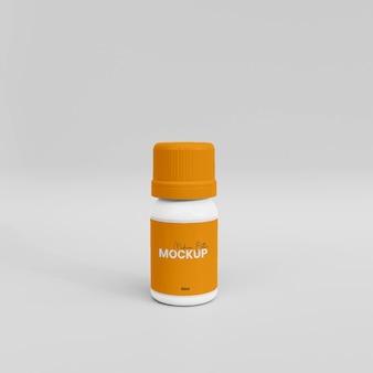 Maquette de bouteille de médicament en plastique 3d