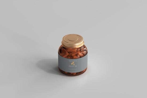 Maquette de bouteille de médicament en verre ambré