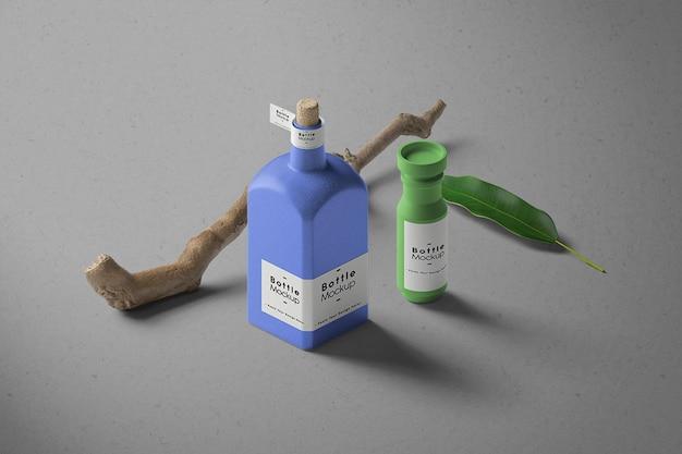 Maquette de bouteille minimaliste