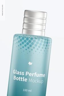 Maquette de bouteille de parfum en verre de 100 ml, gros plan