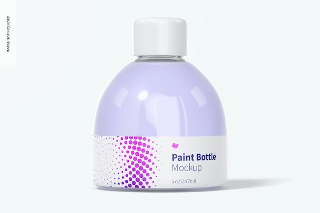 Maquette de bouteille de peinture de 5 oz, vue de face