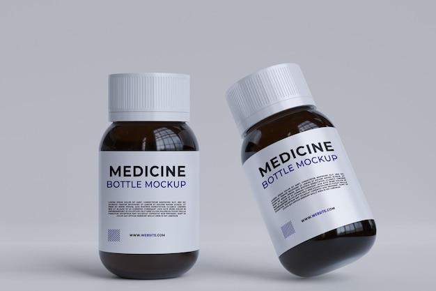 Maquette de bouteille de pilule de soins de santé de médecine