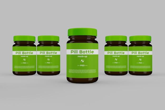 Maquette de bouteille de pilule