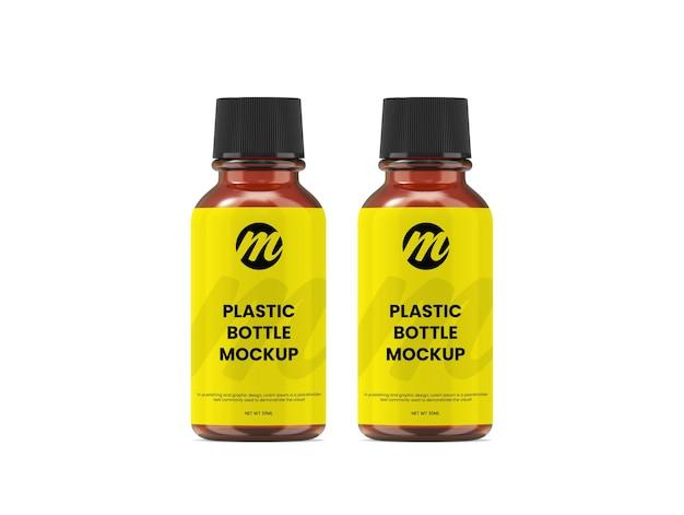 Maquette de bouteille en plastique ou de bouteille d'huile essentielle