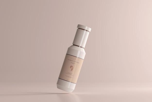 Maquette de bouteille en plastique cosmétique