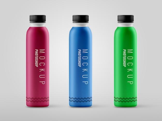 Maquette de bouteille en plastique moderne