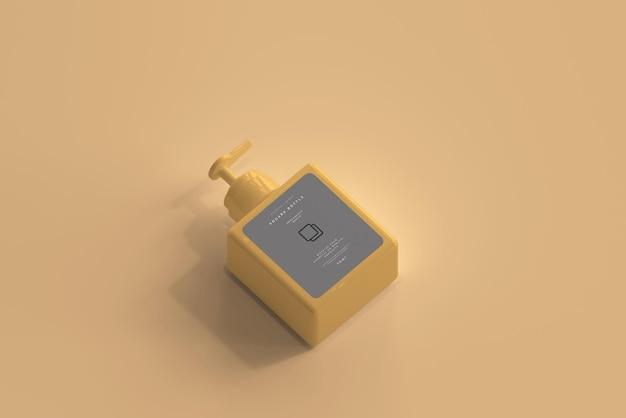 Maquette de bouteille de pompe carrée