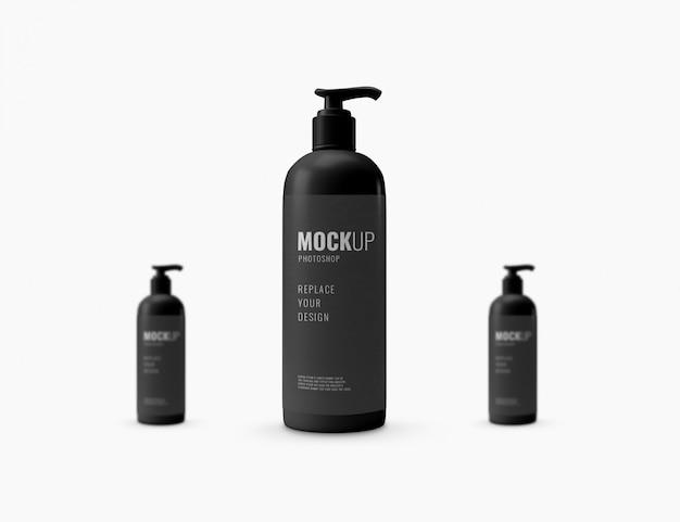 Maquette de bouteille de pompe cosmétique