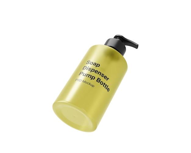 Maquette de bouteille de pompe de distributeur de savon