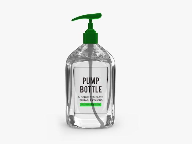 Maquette de bouteille de pompe à gel d'alcool
