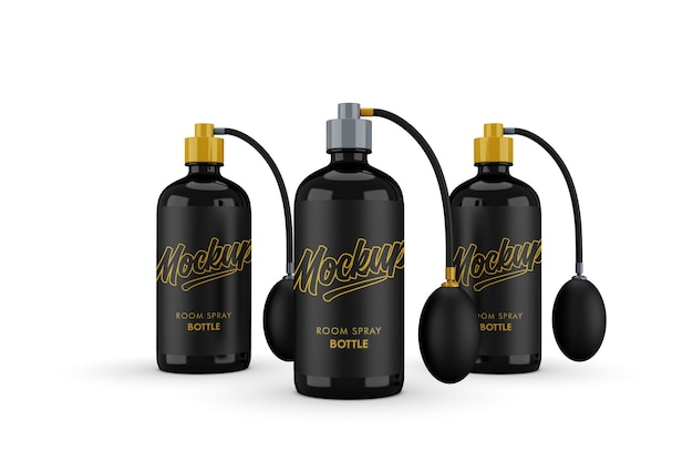 Maquette de bouteille à pompe triple