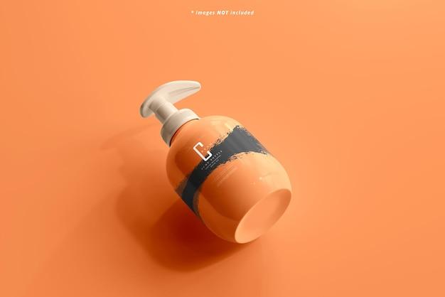 Maquette de bouteille de pompe