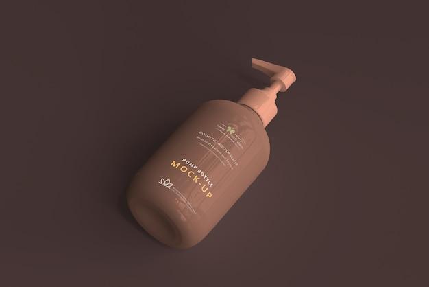 Maquette de bouteille à pompe