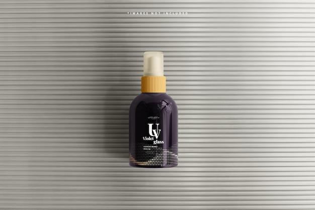 Maquette de bouteille de pulvérisation cosmétique en verre uv