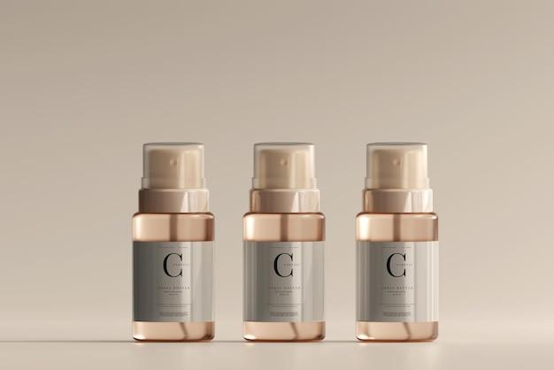 Maquette de bouteille de pulvérisation cosmétique en verre