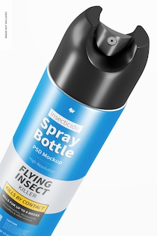 Maquette de bouteille de pulvérisation d'insecticide, close up
