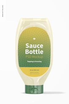 Maquette de bouteille de sauce de 20 oz