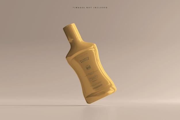 Maquette de bouteille de sauce en plastique