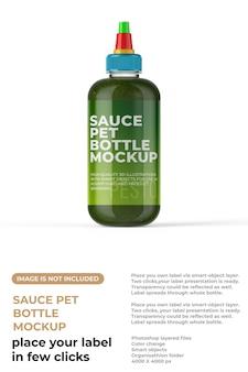Maquette de bouteille de sauce pour animaux de compagnie