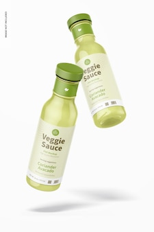 Maquette de bouteille de sauce végétarienne de 12 oz