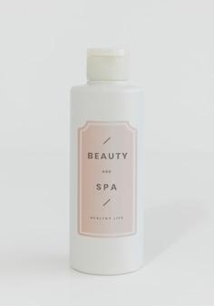 Maquette de bouteille de savon blanc