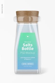 Maquette de bouteille de sels minéraux, vue de face