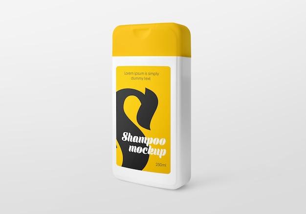 Maquette de bouteille de shampoing en plastique