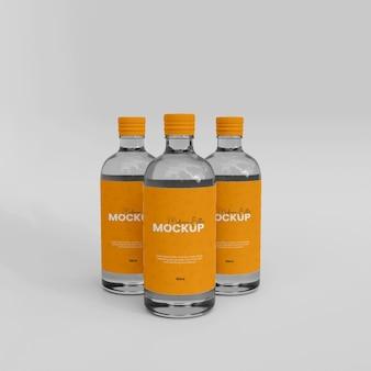 Maquette de bouteille de sirop en verre 3d
