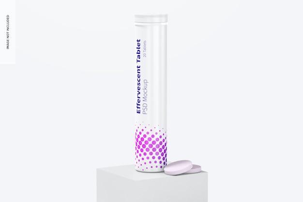 Maquette de bouteille de tablette effervescente