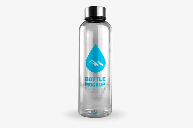 Maquette de bouteille transparente