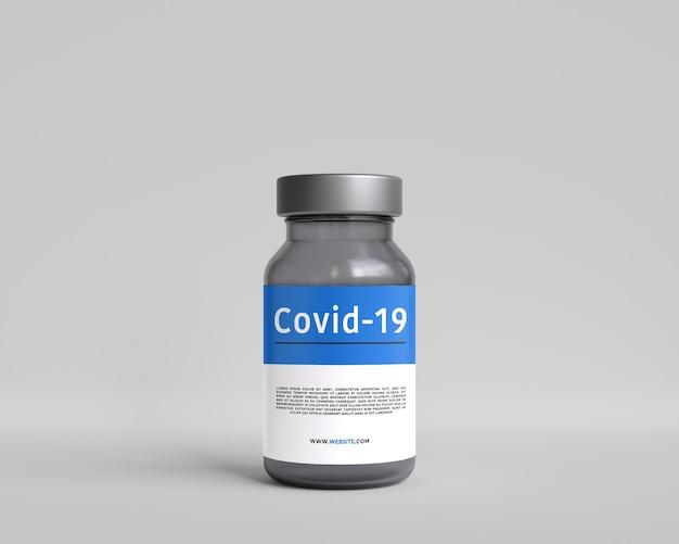 Maquette de bouteille de vaccin de pilule de soins de santé de médecine