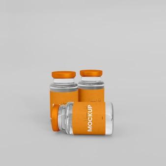 Maquette de bouteille de vaccin en verre 3d