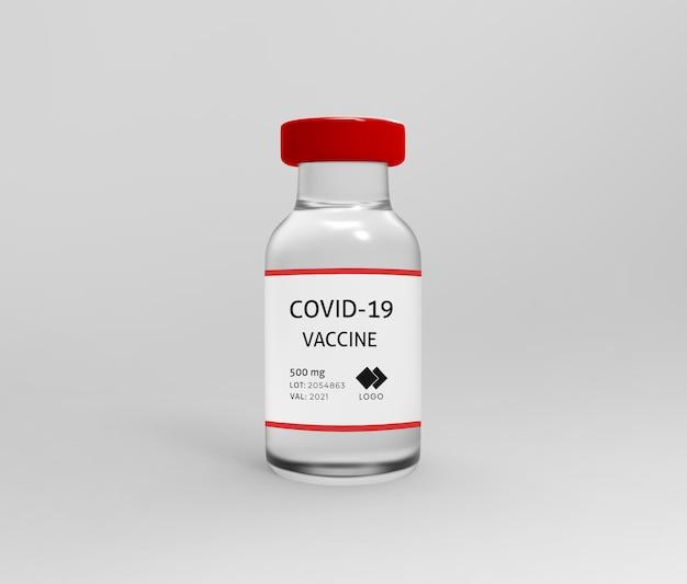 Maquette de bouteille de vaccin