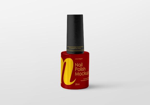 Maquette de bouteille de vernis à ongles