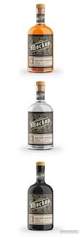 Maquette de bouteille en verre de whisky