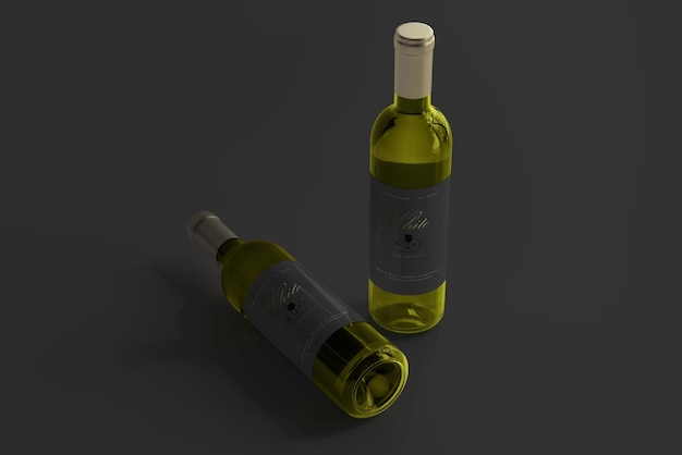 Maquette de bouteille de vin blanc