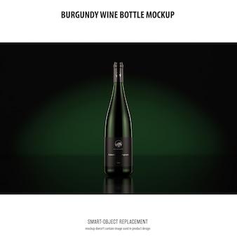 Maquette de bouteille de vin de bourgogne