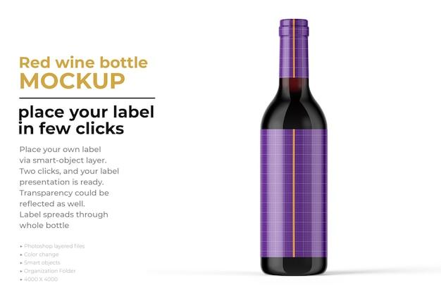 Maquette de bouteille de vin isolée