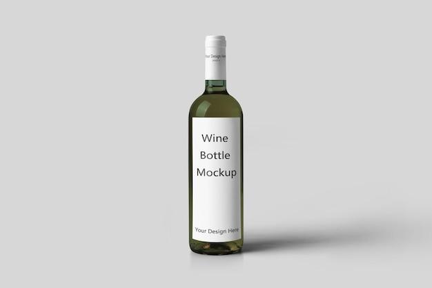 Maquette de bouteille de vin réaliste isolée