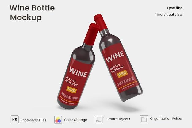 Maquette de bouteille de vin réaliste