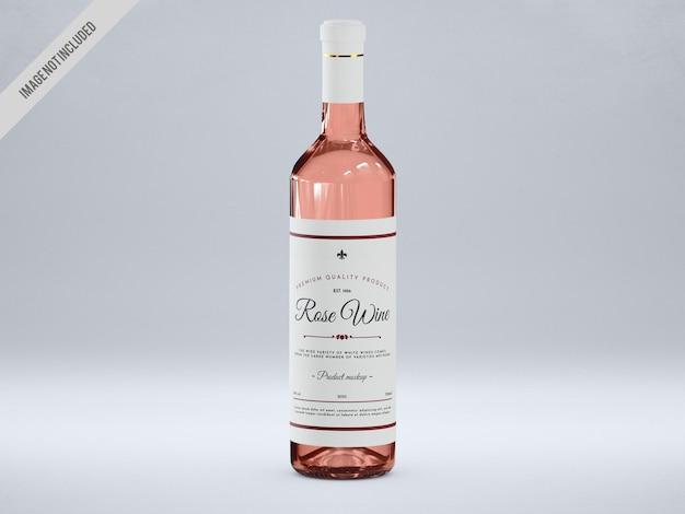Maquette de bouteille de vin rose