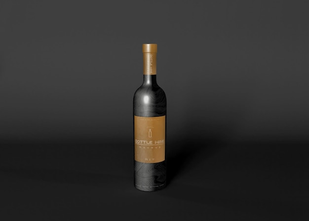 Maquette de bouteille de vin