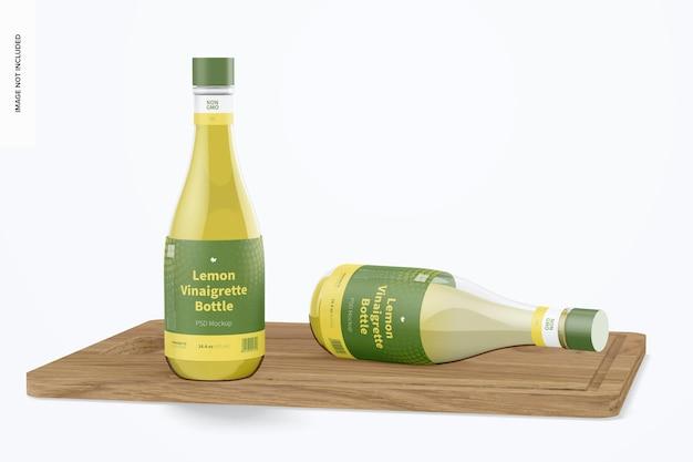 Maquette de bouteille de vinaigrette au citron de 14,5 oz