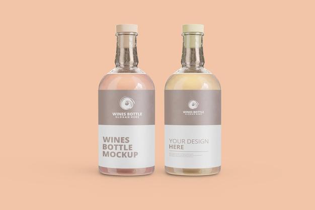 Maquette de bouteille de vins