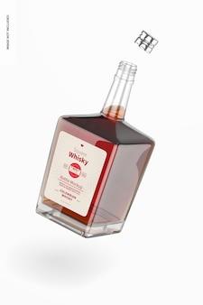 Maquette de bouteille de whisky carrée, tombant