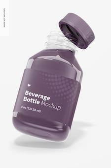 Maquette de bouteilles de boisson de 8 oz, ouverte