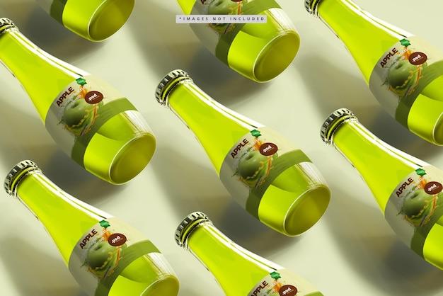 Maquette de bouteilles de boisson en verre